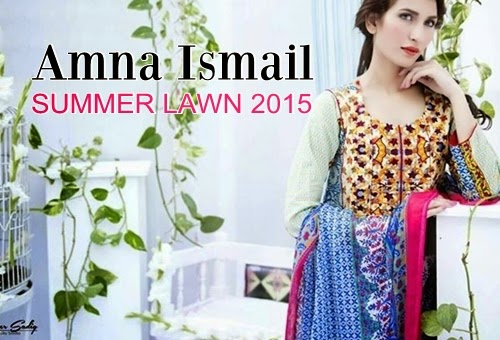 6773c7a07e Amna Ismail Lawn Collection 2015-16 | Amna Ismail Spring Summer Catalog 2015  | She-Styles | Pakistani Designer Dresses - Fashion Weeks - Lawn Collection