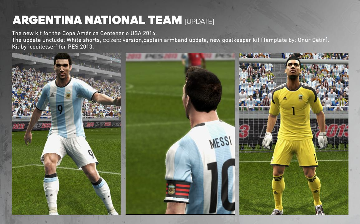9b4c1e0c0 Yükle (1155x720)PES 2013 Argentina New Home Kit 2016 GK Update - PES Patch Home.