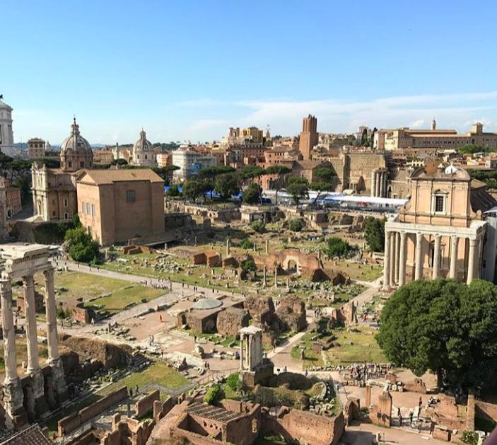 Palatino Tepesi'nden Roma Forum Kuş Bakışı