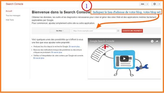 Envoyer un xml Sitemap Blogger a Google Search Console