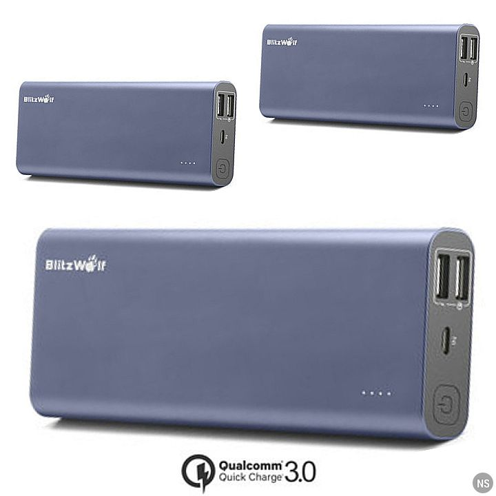 BlitzWolf BW-P5 Powerbank: 15600mAh Smart Qualcomm Quick Charge 3.0 Phone Battery Power Bank
