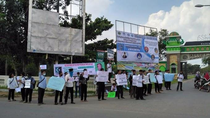 Aliansi Mahasiswa Tolak Kedatangan Haidar Baghir di Lampung