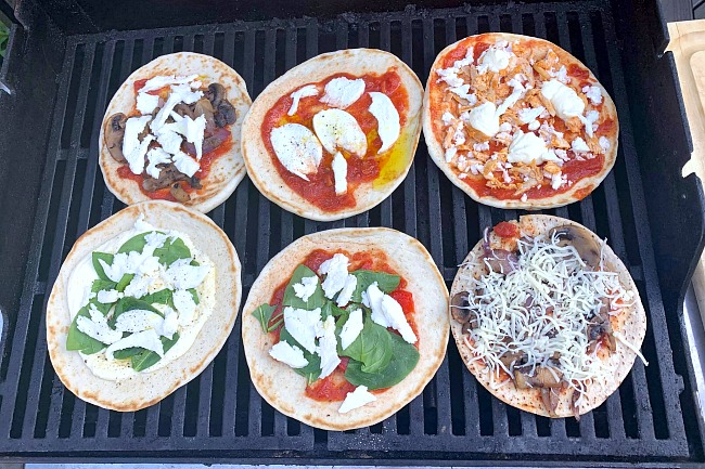 Pizzas on the Barbecue Recipe for Fun