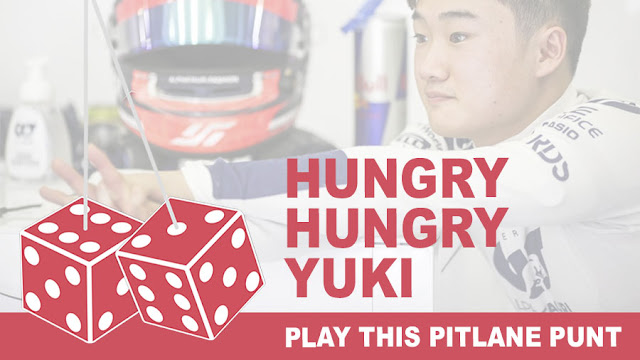 Hungry hungry Yuki: Play this Pitlane Punt