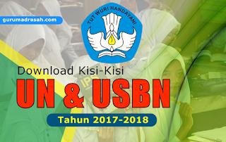 kisi-kisi un dan usbn 2017-2018