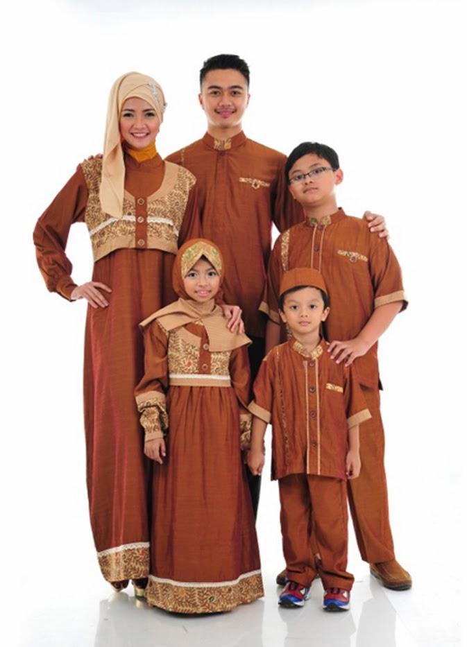 Model Gamis Muslim Pesta Sarimbit Keluarga Terbaru