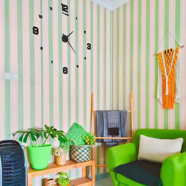 Model Wallpaper Dinding Ruang Tamu Minimalis