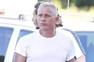 James bond Daniel Craig emerges with new hairdo