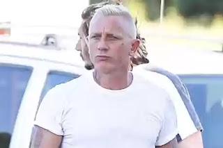 James bond Daniel Craig emerges with new hairdo