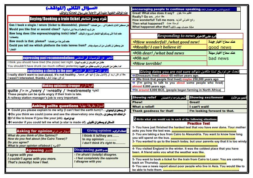 اقوى مراجعة ليلة الامتحان لغة انجليزية ثالثة اعدادى ترم ثاني 2021 مستر محمد فوزي 3