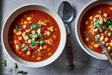 سهل ورخيصة | مفيدة | شوربة الطماطم والحمص والمكرونة
