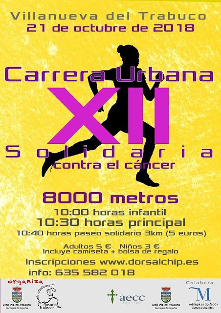 XII Carrera Solidaria contra el Cáncer de Villanueva del Trabuco