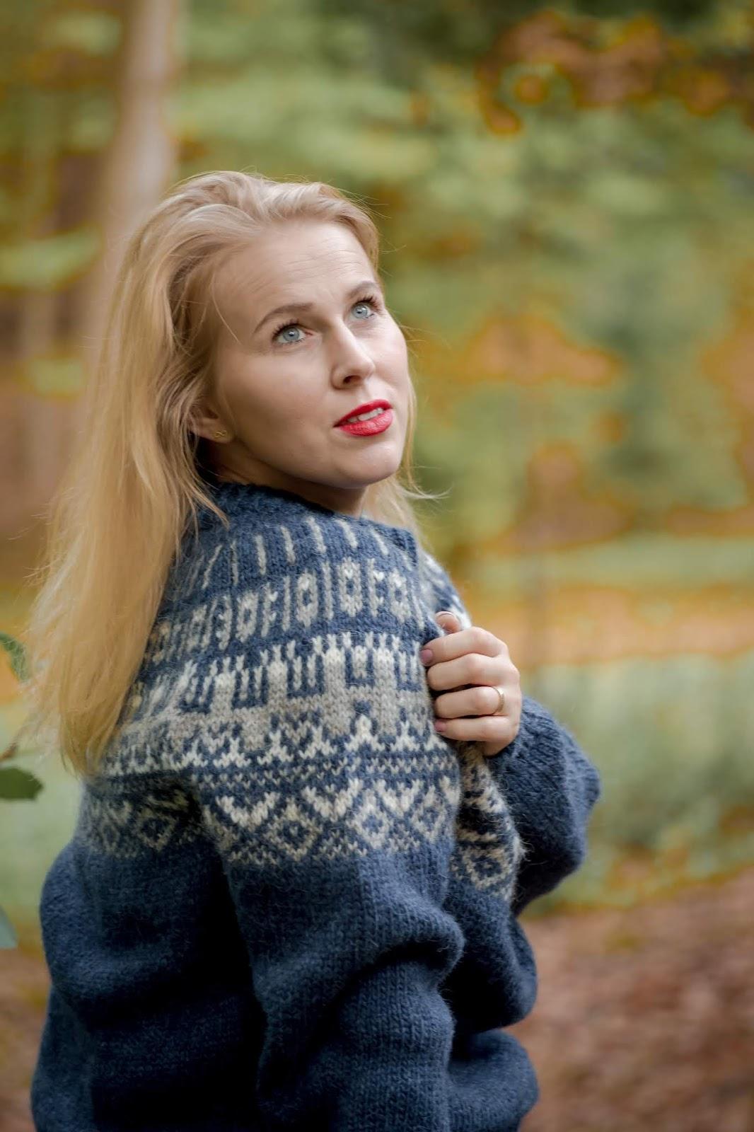 sweter skandynawskie wzory