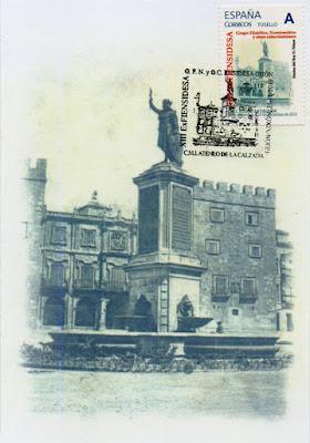 Tarjeta matasellada de la XIII exposición del Grupo filatélico de Ensidesa