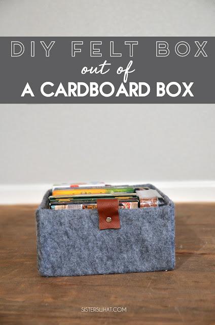diy storage container cardboard box