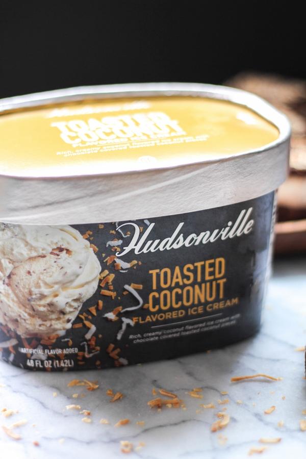 Frozen Toasted Coconut Brownies | The Chef Next Door