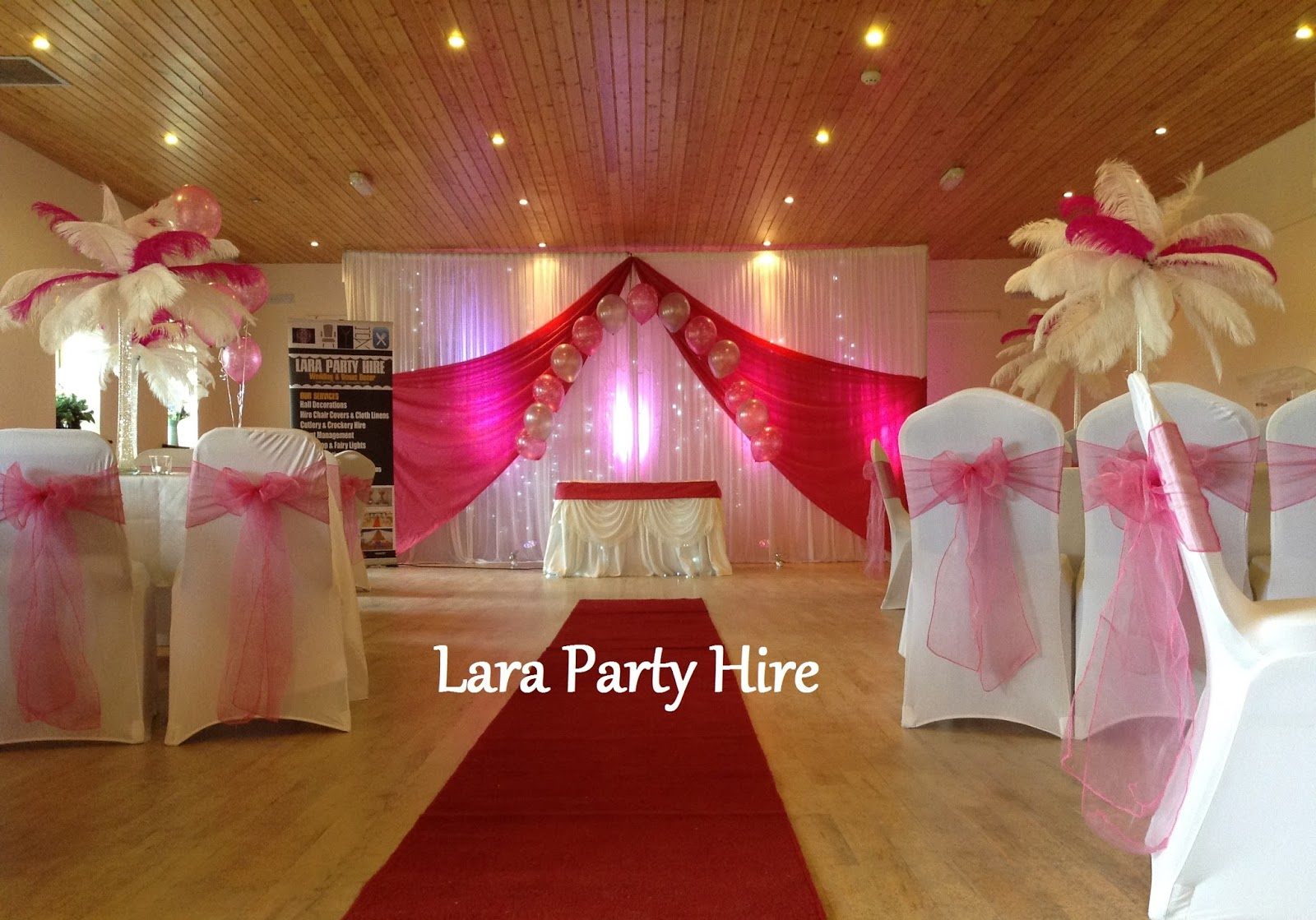 chair cover hire kerry steel design plans lara party 6m backdrop 150