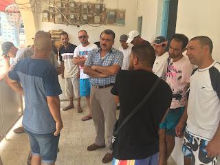 صور الاجتماع الحاصل ببلدية رفراف بخصوص الوضعية في استغلال المياه الصالحة للشراب