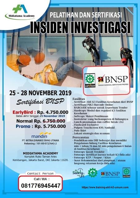 Investigasi Insiden BNSP tgl. 25-28 November 2019 di Jakarta
