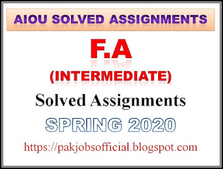 AIOU Solved Assignments FA Spring 2020