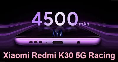 مواصفات شاومي ريدمي Xiaomi Redmi K30 5G Racing شاومي ريدمي Xiaomi Redmi K30 5G Racing يُعرف أيضًا باسم Xiaomi Redmi K30 5G Racing Edition