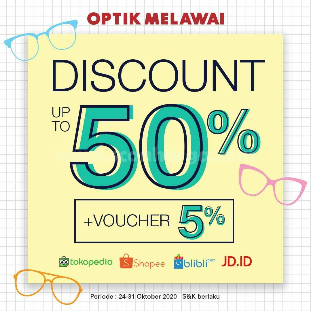 Optik Melawai Promo PAYDAY SALE Discount up to 50% + voucher 5%