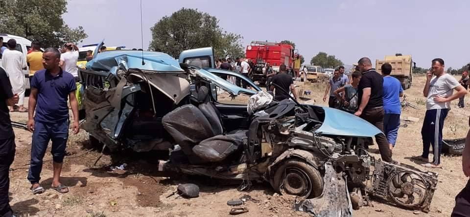 قتيلان و3 جرجى في حادث مرور مروع على الطريق الوطني رقم 19أ بالشلف