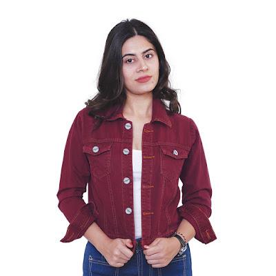 Jaket Jeans Wanita Catenzo NU 158