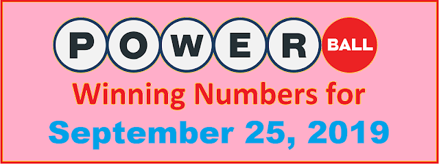 PowerBall Winning Numbers for Wednesday, September 25, 2019