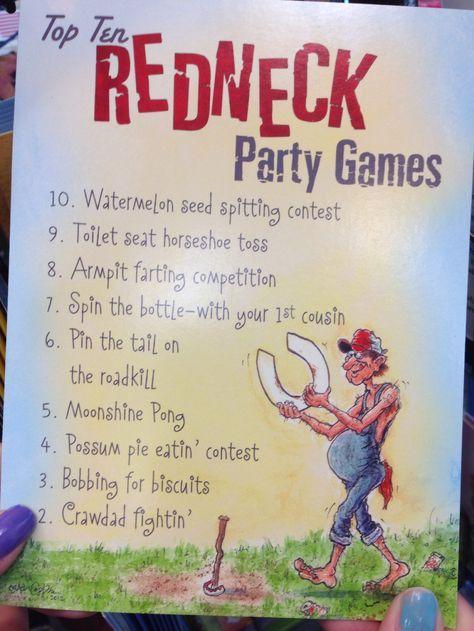 Top Ten Redneck Party Games