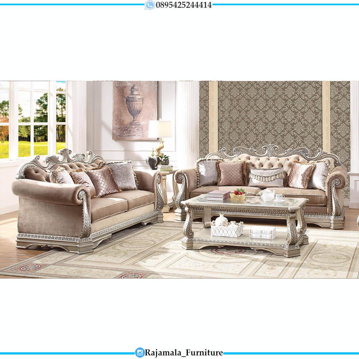 New Set Sofa Tamu Mewah Ukiran Jepara Excellent Color RM-0727