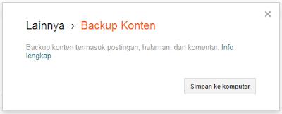 cara mudah backup blog 2017