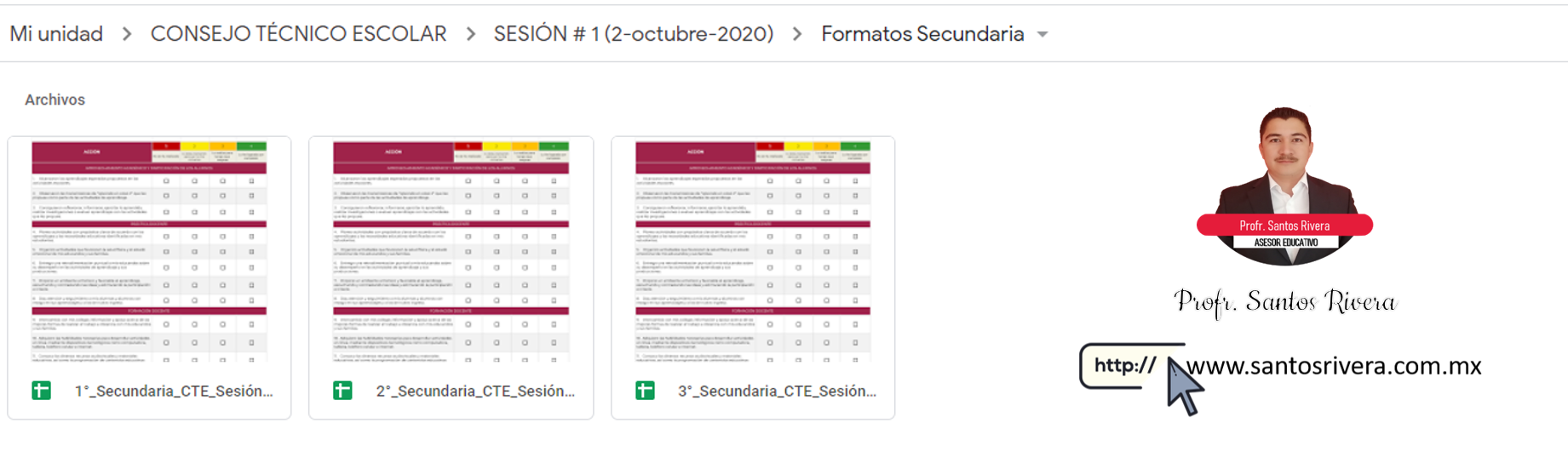 Descargar formatos del Consejo Técnico Escolar para Secundaria