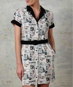 Printed-shirt-dress-amy-winehouse-fred-perry