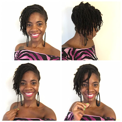 Loose twists on medium length natural hair
