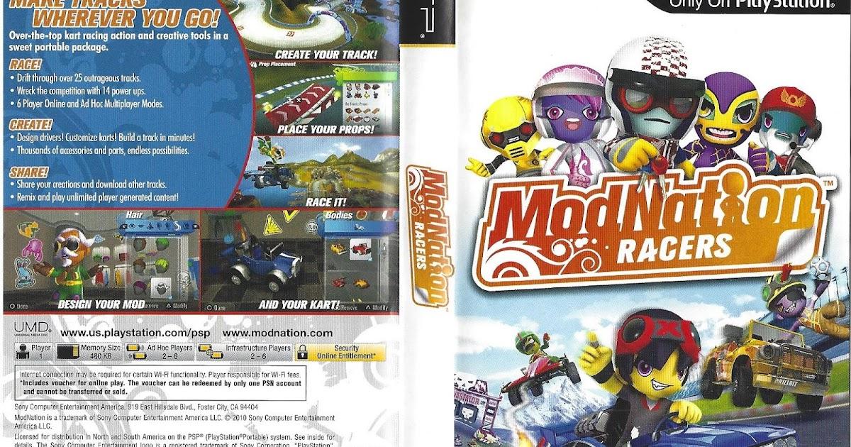 PSP Hardcore: PSP Hidden Poster: Modnation Racers