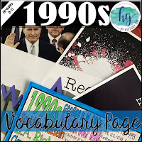 Image of 1990s Vocabulary Page