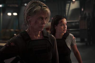 Linda Hamilton and Natalia Reyes in Terminator: Dark Fate (2019)