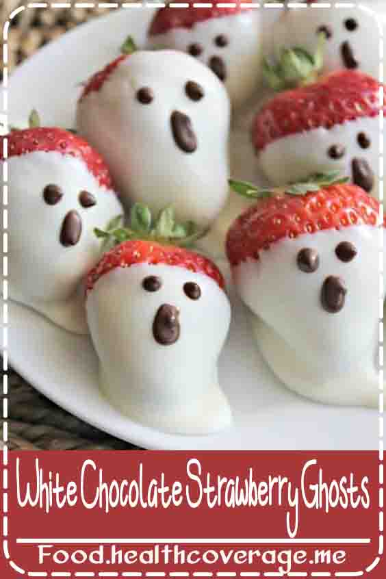 It doesn't get much better than a chocolate dipped strawberry! These strawberry ghosts are cute, easy to make and perfect for Halloween!
