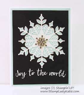 Stampin'UP! Snowfall Thinlits Inlay card by StampLadyKatie