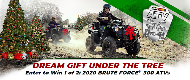 Advanced Auto Parts wants you to have a chance to enter to win a 2020 Model Brute Force 300 ATV complete with a tire inflator and Slime sealant!