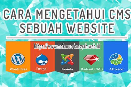 Cara Mengetahui CMS Sebuah Website