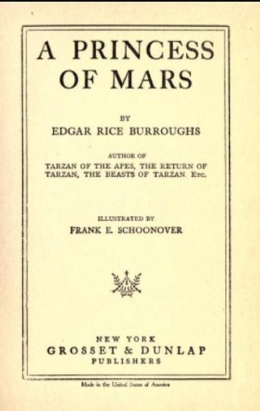 A Princess of Mars Novel by Edgar Rice Burroughs  in pdf