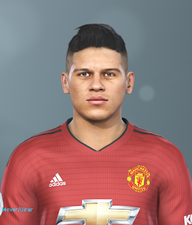 PES 2019 Faces Marcos Rojo by Hugimen