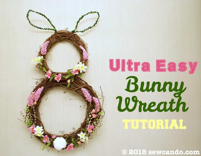 bunny ear wreath