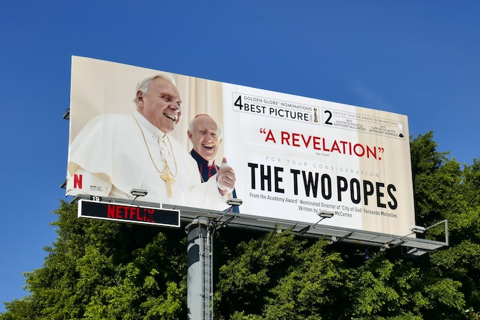 Two Popes Revelation FYC billboard