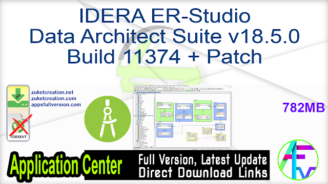IDERA ER-Studio Data Architect Suite v18.5.0 Build 11374 + Patch