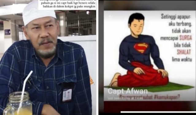 Masya Allah, Ustaz Syam: Kapten Afwan Gemar Sedekah ke Cleaner Pesawat