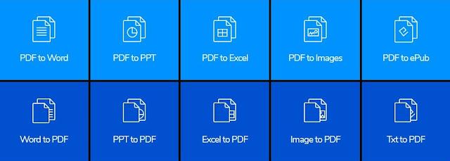 موقع لتحويل ملفات pdf إلى word و excel
