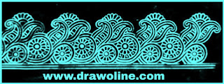 cutwork border designs/cutwork embroidery border design for banarasi saree/banarasi cutwork border design